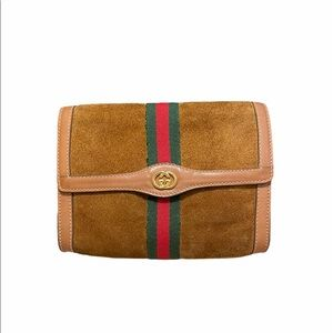 🎉2XHOSTPICK🎉Gucci Shelly Line Clutch Bag Vintage